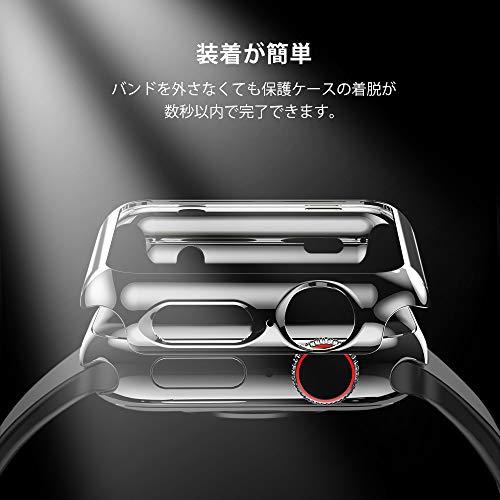 HOCOコンパチブルAppleWatch6/SE/5/4ケースアップルウォッチカバー40mmメッキPC素材軽量超簿耐衝撃性脱着簡単AppleWatch保護ケースAppleWatchSeries6/SE/5/4に対応(40mm/ブラック)