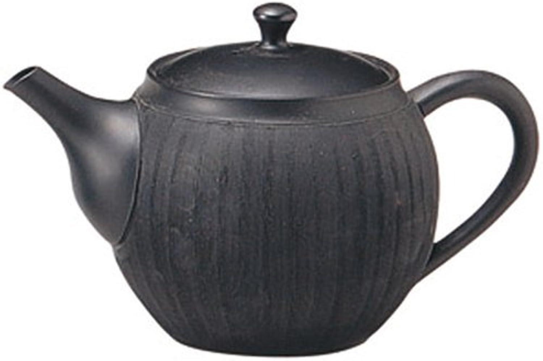 Yamakiikai Tokoname firing light wind black comb meshwork teapot Y957 (japan import)