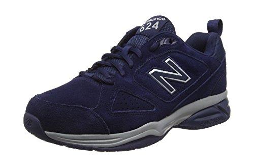New Balance 624, Zapatillas Deportivas para Interior Hombre, Azul (Pigment Nv4), 45 EU