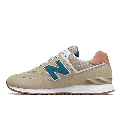 New Balance Iconic 574 V2 Sneakers', Zapatillas Hombre, Beige Faded Mahogany, 44.5 EU