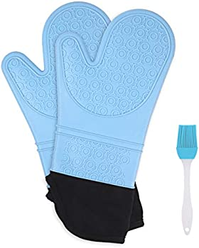 Qidoe Extra Long Silicone Heat Resistant Gloves