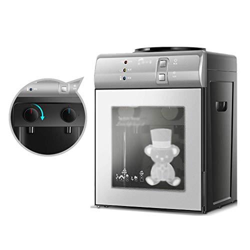 LXDDP Mini dispensadores Agua, dispensador Agua Mesa Enfriador Agua embotellada Caliente y fría Máquina Agua Escritorio eléctrica, para reuniones, Oficina, hogar