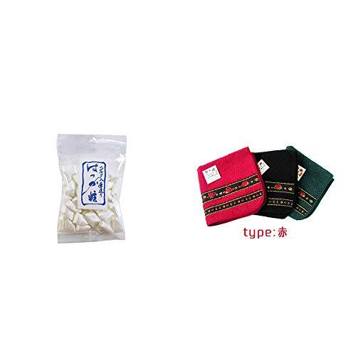 [2点セット] シルクはっか糖(150g)・さるぼぼ 刺繍ミニタオル【赤】
