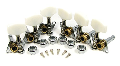 Chrome Open-gear Guitar Tuners/Machine Heads - 6-piece 3 Left / 3 Right Alignment