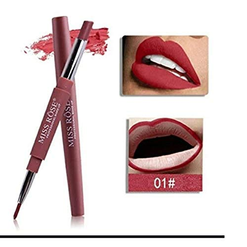 Miss Rose 2 In 1 Lipstick with Lip Liner, Shade 01, 2.1 g, 01 Showgirl