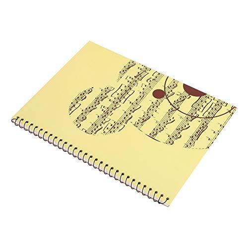 Drfeify Notenpapier, 4 Arten Umschlag 50 Seiten Notenheft für Musikkünstler(gelber Bär)