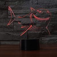新しいシャーク3Dテーブルランプの家の装飾7色変更Ledナイトライトタッチコントロール家の装飾雰囲気ランプ
