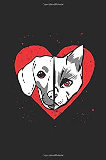 Dog Cat Heart: Journal Gift Idea for Girls and Boys - Graph Ruled Notebook