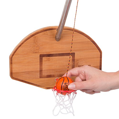 Tiki Toss Basketball and Hoop Deluxe Swing Game Free Toss- Be The First to Swing A Basket 100%...