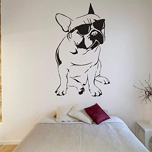 yaonuli Vinyl Aufkleber Wandaufkleber Hund Bulldogge Abnehmbare Wand Vinyl Aufkleber 64X76cm