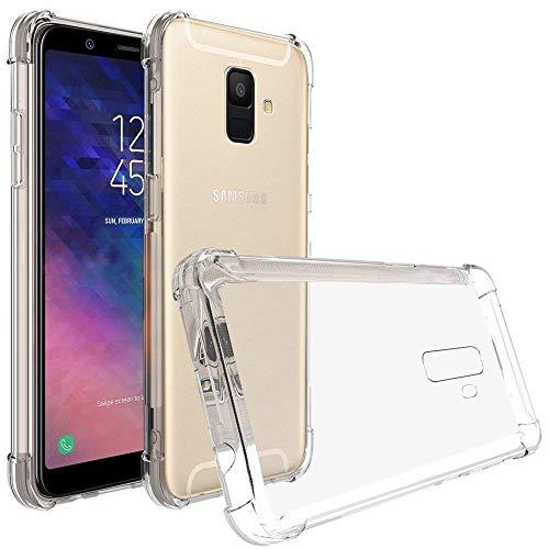 REY Funda Carcasa Gel Transparente para Samsung Galaxy A6 2018, Ultra Fina 0,33mm, Silicona TPU de Alta Resistencia y Flexibilidad