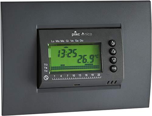 Nico PLK267602 - Cronotermostato digitale a batterie da incasso