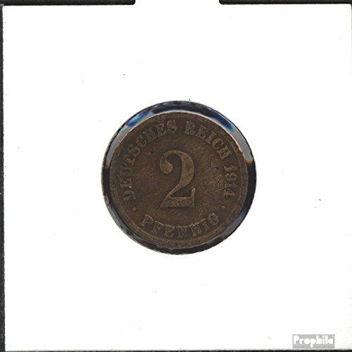 Deutsches Reich Jägernr: 11 1910 A sehr schön Bronze 1910 2 Pfennig Großer Reichsadler (Münzen für Sammler)