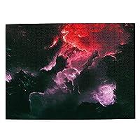 銀河 黒い型 宇宙 雲 500ピース ジグソーパズル ピクチュアパズル 木製の風景パズル、人物 動物 風景 漫画絵のパズル 大人の子供のおもちゃ家の装飾風景パズル Puzzle 52.2x38.5cm