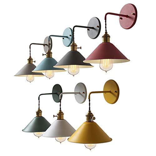 Wandlampe Innen Deko Lampe Vintage Wandlampe Landhaus Wandleuchte Innen Wandlampe Landhausstil FÜR Mehrere Szenarien Ohne Glühbirne (Grau)