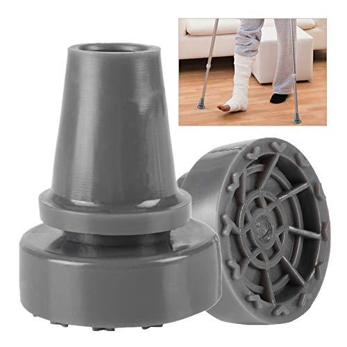 Bastón de pie antideslizante giratorio de 360° bastón de goma para muletas, accesorio de punta inferior ✅