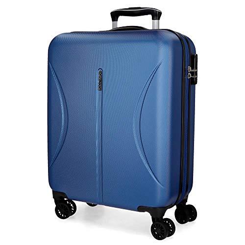 Roll Road Camboya Maleta de cabina Azul 40x55x20 cms Rígida ABS Cierre combinación 36L 3Kgs 4 Ruedas Dobles Equipaje de Mano