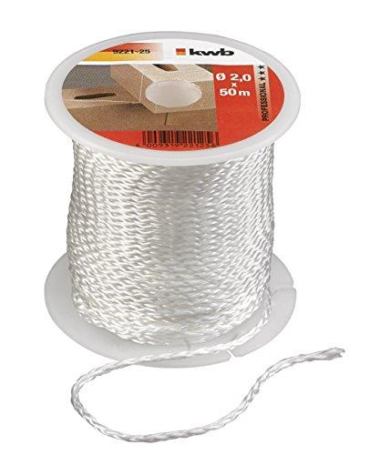 KWB 922125 Cuerda para albañil, color blanco, 50 m x 2,0 mm