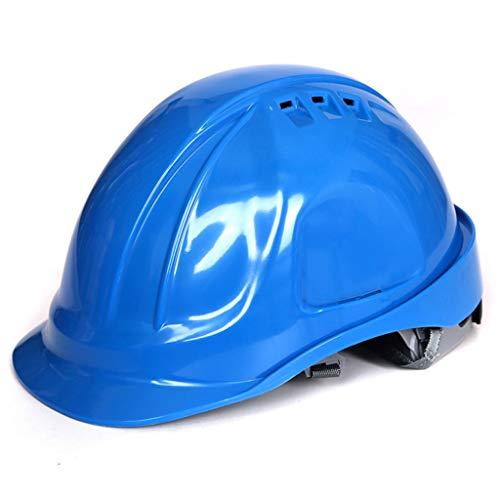 Shang Jiangan Casco de construcción anticolisión y a prueba de choques Construcción Laboral Seguro de trabajo Casco de protección contra impactos Casco de protección contra impactos (Color : Blue) ✅