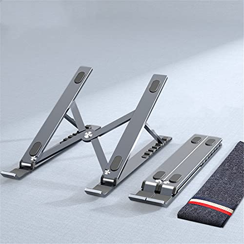 XJST Portable Laptop Stand,Stand Foldable Adjustable Invisible Cooling Bracket Tablet Notebook Holder,for Desk,Gray