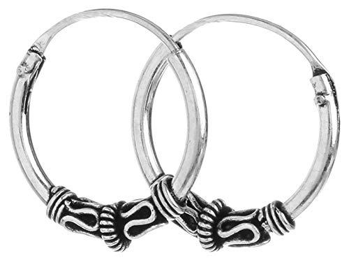 WINDALF Vikings Creolen AISLYN Ø 1.4 cm Historischer Ohrschmuck Antik 925 Sterlingilber