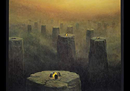 Serpent Publishing Zdzisław Beksiński Zdzislaw Beksinski - Póster de futurismo barroco gótico de bellas artes, papel brillante, tamaño A4, sin marco [BEKS071]