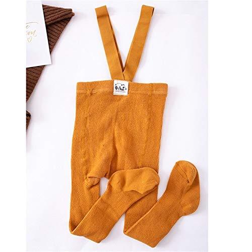 GLBS Toddler Enfants Mode Bébé Collants Garçon Loisirs Coton Nouveau-né Collants Bracelet Maintien Au Chaud Automne Hiver Fille Leggings for L'âge 0-2 Ans (Color : New Dark Yellow, Kid Size : 24M)