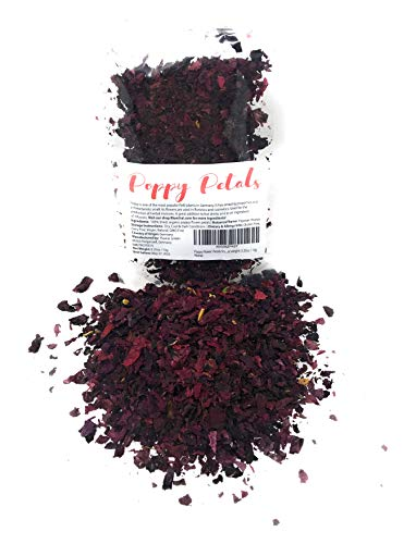 Poppy Flower Petals from Germany - 100% Organic& Natural | Pure, edible...