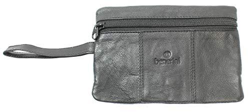 Cuero negro cinturón de seguridad del dinero (pliegues interiores Pantalones) Viajes de...