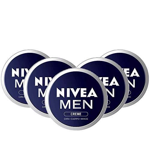 NIVEA MEN Creme en pack de 5 (5 x 150 ml), crema para hombres, crema para cara, cuerpo y manos, crema multiusos hidratante para el cuidado de la piel masculina