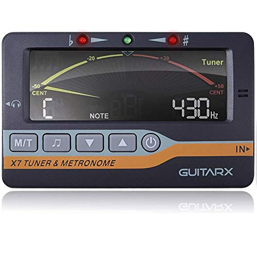 GUITARX X7 - Tuner, Metronome and Tone Generator for All Instruments - Chromatic, Guitar, Ukulele, Violin and Bass Tuning Modes