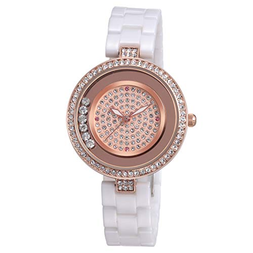 SJXIN schöne und stilvolle SKONE Uhr, WEIQIN Uhr Keramikarmbanduhr Mode Quarzuhr Mode Uhren (Color : 1)