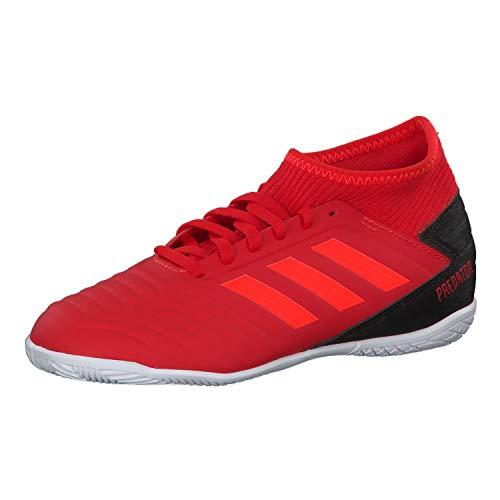 adidas Unisex-Kinder Predator 19.3 In J Fußballschuhe, Mehrfarbig (Rojact/Rojsol/Negbás 000), 35 EU