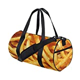 Bolsa de viaje para gimnasio, con patatas fritas, impresión crujiente