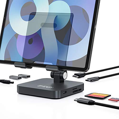 USB C Hub Docking Station BYEASY Faltbar 7in1 USB C Dock mit 4K-HDMI, PD-Aufladung, SD / TF Kartenleser, 2 USB 3.0, 3,5mm Headset Anschluss für iPad Pro MacBook Notebook Tablet Handy Samsung Huawei
