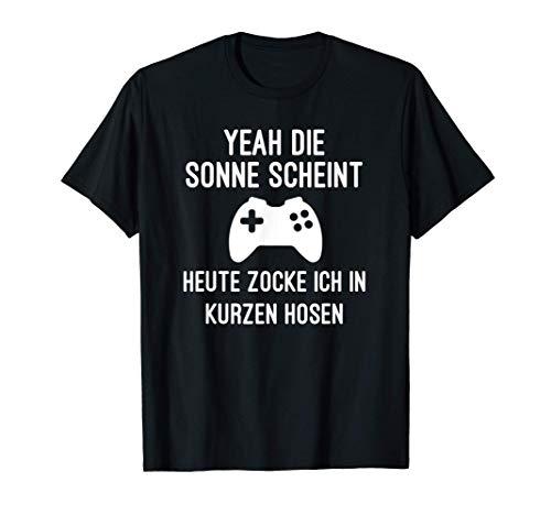 Zocker Gamer Geschenk Sonne Scheint T-Shirt