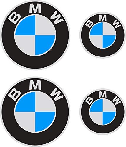 Pegatina Sticker ADESIVO AUFKLEBER Decals AUTOCOLLANTS Compatible Con BMW Reflectante Moto Coche Vinilo 4 Unidades REF1