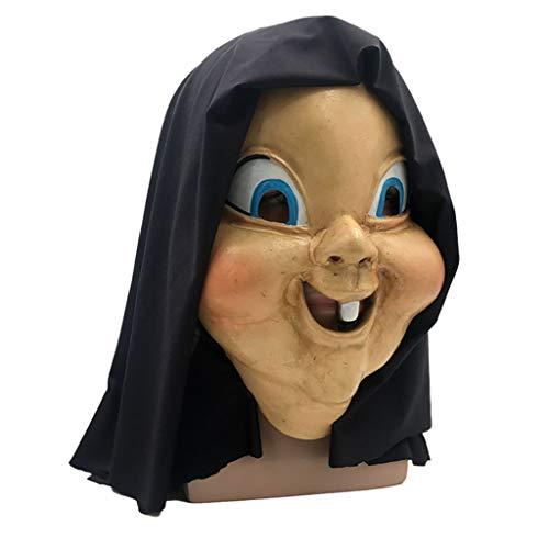 Halloween masker, Vrolijk Deluxe Novelty Latex Mask, oude heks Masker Met Hoofddoek Latex