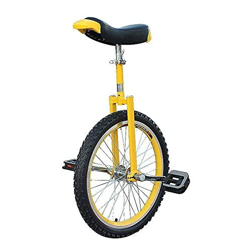ZGZFEIYU Einrad 16/18/20 Zoll Fahrrad Balance Fahrrad Kinder Erwachsene Einzelrad Geeignet Für Anfänger-Gelb  16