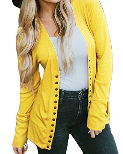 VERABENDI Women Long Sleeve Snaps V Neck Cute Knit Sweater Cardigan -$12.04(55% Off)