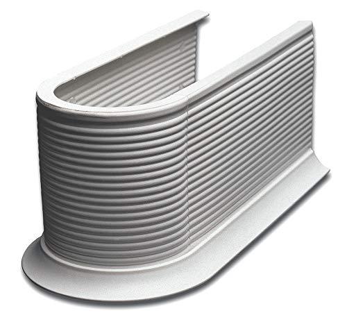 Pelipal - Syphon-Abdeckung Alufarben, Siphon-Manschette zuschneidbar für Waschbecken-Unterschrank
