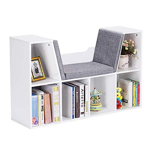 LIVHOOU Estantería para Libros Infantiles, Librería Estantería Infantil con Cojín para Libros...