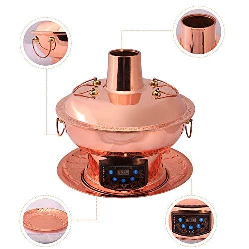 41sUBuhHCpL - Lamyanran Fondue-Fritteusen 2-4 Person 30cm Kupfer Hot Pot Haushalt, reines Kupfer Stecker Altmodische Charcoal Old Beijing Shabu Hot Pot mit Fernbedienung