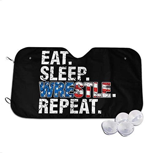 Jeffrey Toynbee Eat Sleep Wrestle Repeat Wrestling Auto Faltbarer UV-Strahlreflektor Auto Frontfenster Sonnenschutz Visierschild Abdeckung