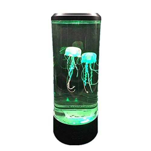 XW Luz De Medusas De Torre LED con Control Remoto - 7 Modificaciones De Color Y 4 Modos De Iluminación - Simulación Aquarium Night Light para Dormitorio Decorativo,Regular Version