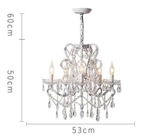 Kristallen Maria kroonluchter, hoogwaardige hoge transmissie K9 kristal plus glazen lamp, dik smeedijzer-materiaal, woonkamer slaapkamer studie prachtige en mooie decoratieve verlichting
