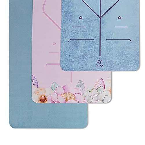 Hivexagon Yoga Mat Pieghevole 1,5 mm di Spessore Antiscivolo Viaggi Yoga Mat Rilievo...