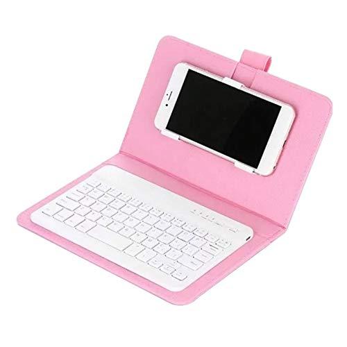 L-yxing Obra de Arte Teclado PU Caja de Almacenamiento Nómada Teléfono Protector Tunner Sintonizador Bluetooth Llaves de Alta Durabilidad (Color : Pink)
