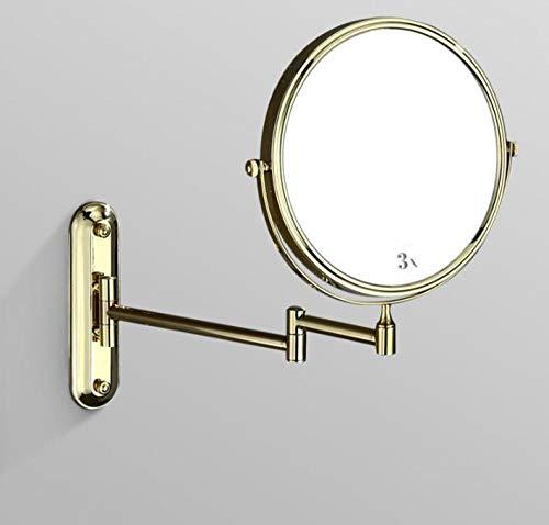 Hotelbadkamer alle koperverrekijkers aan de muur bevestigde schoonheidsspiegelmake-up spiegelbadkamerwand hangende dubbele zijkant van de uitbreiding