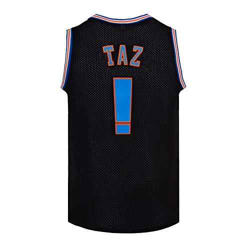 basketball shirts CNALLAR Youth Basketball Jersey Taz Space Movie Jersey Kids Sport Shirts White/Black